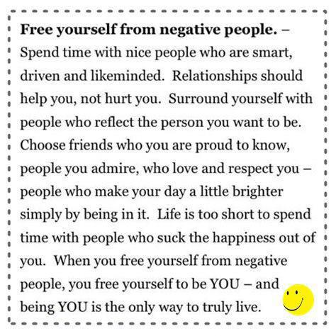 Free yourself from negative people