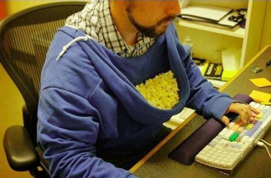 Need A Creeative Idea for Eating Popcorn?