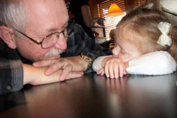 grandpa and granddaughter