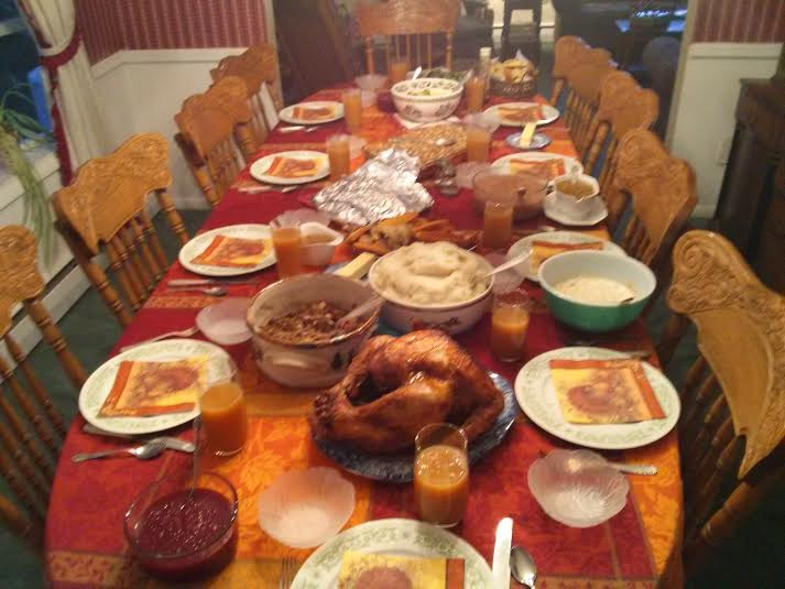 Our Thanksgiving Table Last Year