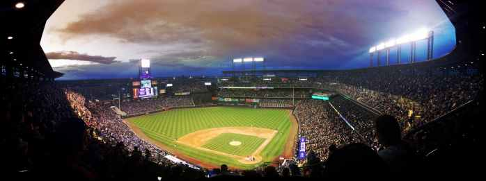 lights night crowd stadium