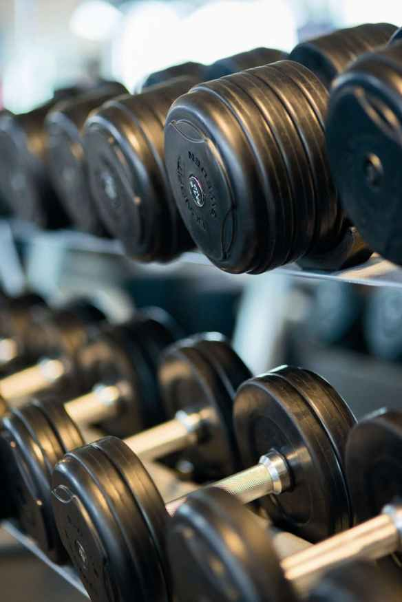 bodybuilding close up dumbbells equipment
