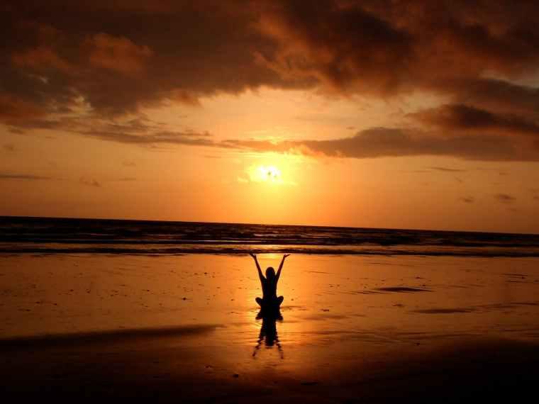 backlit balance beach cloud